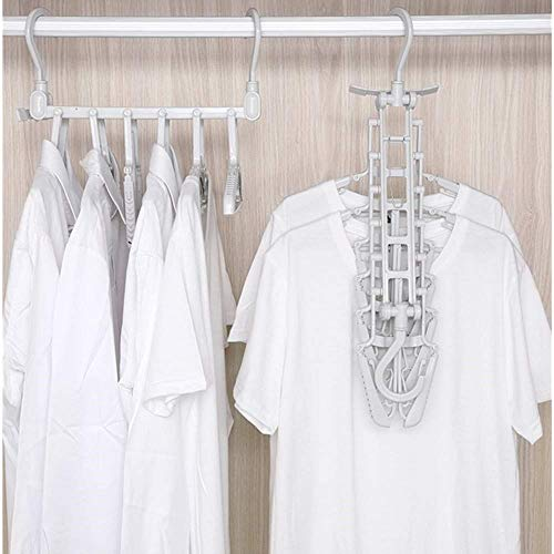 Ultra-Space Saving Hangers, Non-Slip 6-Piece Hangers, Strong Plastic Folding Hangers, 360° Rotating Hooks for Jackets, Dresses, Skirts, Shirts, Sweaters. ()