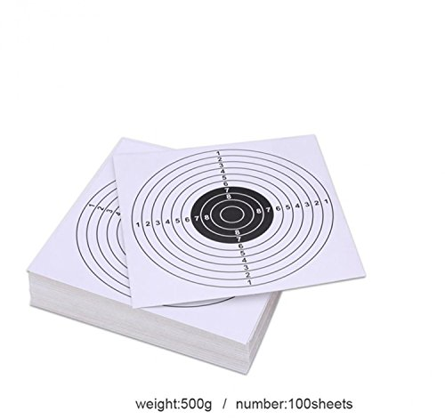 Pop Resin 100 Pack - Air Shot Paper Targets - 5.5 By 5.5 - Fits Gamo Cone Traps And Metal Box BB Catcher Target Holder Pellet Trap for Air Rifle/Airsoft Pistol