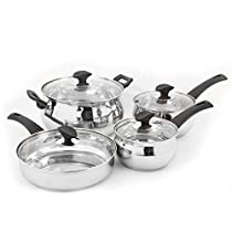 Oster Ingleton 8 PC Silver Stainless Steel Cookware Set