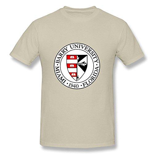 MINGRUI Men's Barry University 1940 Logo T-shirt XS Natural
