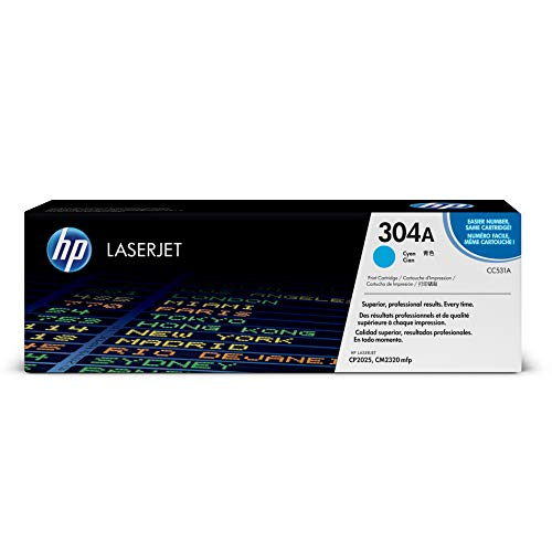 HP 304A (CC531A) Cyan Toner Cartridge for HP Color LaserJet CP2025 CM2320