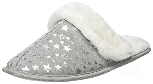 Pantofole Jersey Noil Look Donna Foil New Grigio Grey mid 4SUTafWW