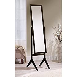 Mirrotek Adjustable Free Standing Tilt Full Length Body Floor Mirror, Cheval Style Tall Mirror