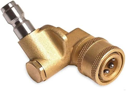 4500 Psi TOOGOO Quick Connecting Pivoting Coupler for Pressure Washer Spray Nozzle Updated 90 Degree 1//4 Cleaning Hard to Reach Areas