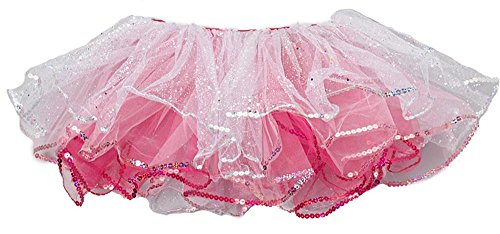 Girls White And Pink Reversible Tutu - Wenchoice Girl's White & Pink Princess Reversible Tutu - L(5T-6T)