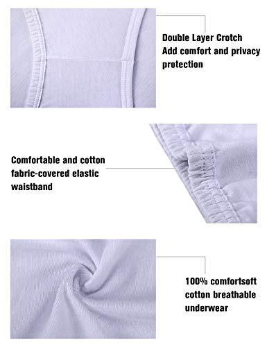 39ad6da37890 Wingslove 3 Pack Women's Comfort Soft Cotton Plus Size Underwear High-Cut  Brief Panty