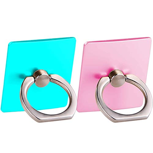 [2 Pack] Cell Phone Ring Holder Stand,CaseHQ Finger Grip Loop Mount 360 Degree Rotation Universal Smartphone Kickstand for iPhone X 8 7 7Plus Samsung Galaxy S9 S9 Plus S7 S8 LG Google (Teal+Pink)