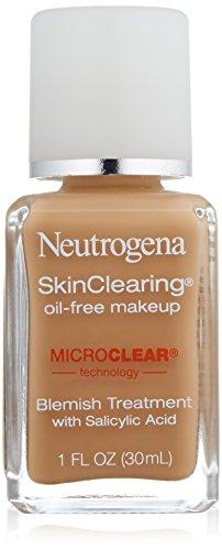 Neutrogena Skin Clearing Liquid Makeup, Honey Beige 110, 1 Fluid Ounce (Prone Skin Acne Foundation)