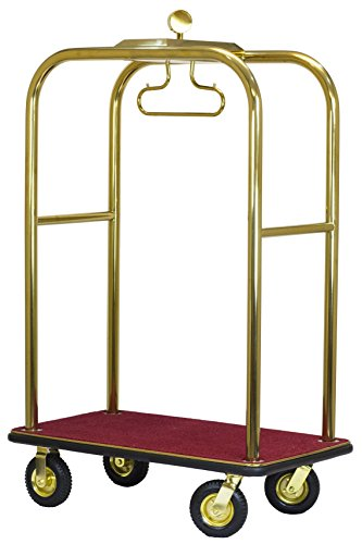The Executive Bellman's Cart, Titanium Gold Finish, Ships Fully Assembled by Wholesale Hotel Products