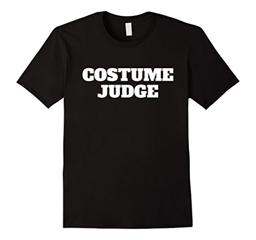 Funny Black Man Halloween Costumes (Mens Costume Judge Halloween Funny Judging Contest T-shir 2XL Black)