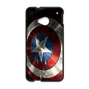 Happy Captain America Shield Brand New And Custom Hard Case Cover Protector For HTC One M7