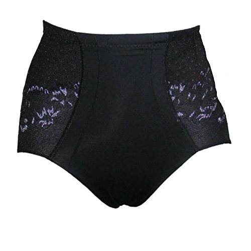 Mujer Barriga de encaje Bodyfit Bum Lift Control Braguitas para mujer (Negro, Blanco, Nude negro