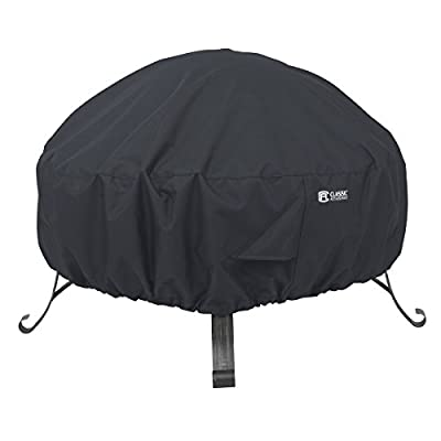 """Classic Accessories 55-552-010401-00 Round Fire Pit Cover, 30"""", Black"""