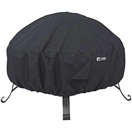 Classic Accessories 55 552 010401 00 Round Fire Pit Cover 30 Black
