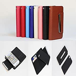 JJE 2 in 1 Design Litchi Stria Pattern PU Leather Full Body Case and Card Slot for iPhone 5/5S (Assorted Colors)