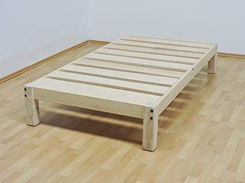 Muebles GM Base para Cama Individual Tradicional Desarmable Sin Pintar