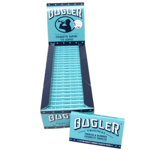 BUGLER ROLLING PAPERS SW 115 LEAVES UNFLAVORED FLAVOR PACK OF 24