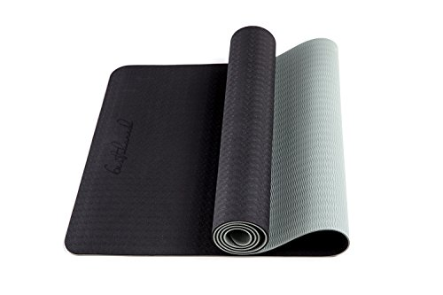Bestshared Two Layer TPE Premium Yoga Mat Extra Long, Non-Slip Free of PVC and Other Toxic Chemicals, 72