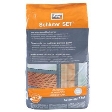 (SCHLUTER SET GREY 50 lbs bag UNMODIFIED THIN-SET MORTAR)