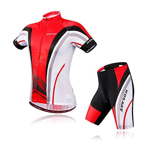 WY1688 Sommer Radtrikot Kurzarm-Anzug Outdoor Laufbekleidung Shorts Casual Sportswear Atmungsaktiv