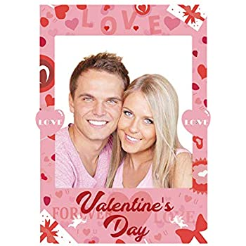 Amazoncom 2 In 1 Valentines Day Photo Booth Props Frame Party