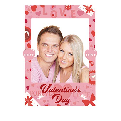 Omgouue 2 in 1 Valentine's Day Photo Booth Props Frame Party Favor - Bridal Shower, Engagement, Wedding,Girl Birthday Party Decorations