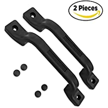 Camp'N - All Weather Plastic Grab Handle-Entry Door Assist Bar for RV, Trailer, Camper, Motor Home, Cargo Trailer, Boat-OEM Replacement (Black 2-Piece)