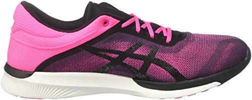 Hot Fuzex White Black Rush Pink Women's Asics Pink Sneakers UqXnw4