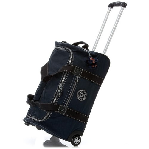 """Kipling Madison 22″ Carry-on Wheeled Duffle Luggage """"True Blue"""", Bags Central"""