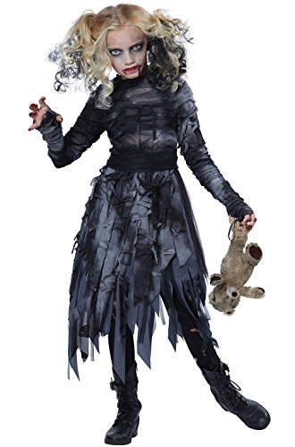 Mememall Fashion Undead Killer Zombie Ghost Dress Girls Child Costume (Zombie Cowgirl Costumes)