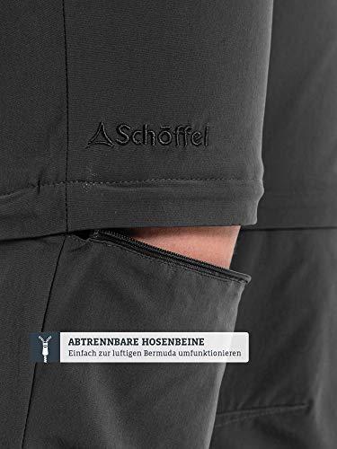 Schöffel Pants Ascona Zip Off, leichte und komfortable Damen Hose mit optimaler Passform, flexible Outdoor Hose für Frauen Damen, asphalt, 40 7