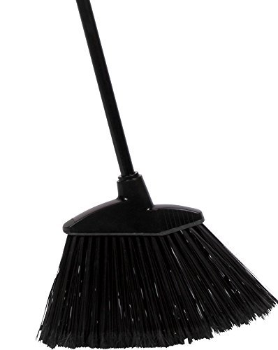 American Market Commercial Strength Angle Broom With Alloy Handle, 13'' Wide Broom Head, 55'' Total Height (Black Broom Commercial)