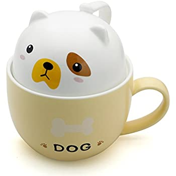 Teagas Cute Funny Ceramic Dog Coffee Mug Cup, Perfect Gift for Friend Sisters Children