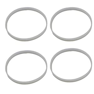 Anbige 4PCS White Rubber Sealing O-Ring Gasket Replacement Parts for Ninja Juicer Blender Replacement Seals (4PCS 8.2cm gaskets)