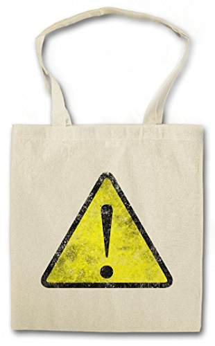 WARNING SIGN HIPSTER BAG – avviso avvertimento segnale di pericolo Symbol Logo Insignia USA Zeichen Caution Danger Biohazard Restricted Area Hipster Nerd Indie Rock