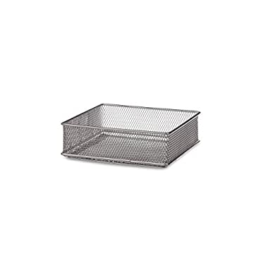 Design Ideas Mesh Drawer Store, Silver, 6 by 6-Inch