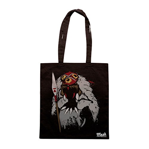 Borsa PRINCIPESSA MONONOKE MIYAZAKI - Nera - CARTOON by Mush Dress Your Style