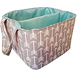 Danha Gray Arrow Diaper Storage Caddy