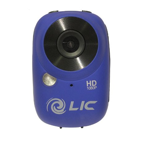 Liquid Image 727- Ego Blue Series 1080p Water Resistant Mountable HD Video Camera with Wi-Fi (Blue) by Liquid Image