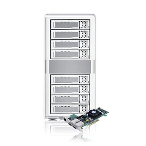 Sans Digital MobileSTOR 8 Bay SATA/SAS RAID 5/6/50/60 Tower with PCIe 2.0 x8 Dual Core Controller (MS8X6HP)