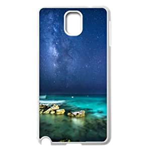 {Funny Series} Samsung Galaxy Note 3 Case Ocean Night Sky, Girls Case Okaycosama - White