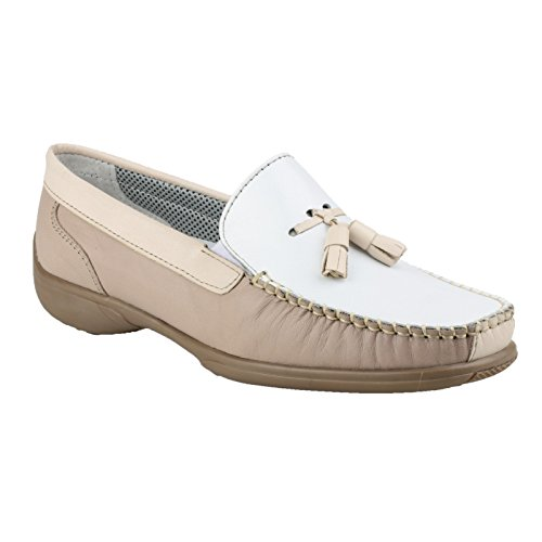 41 40 39 beige Blanco marrón Size 36 Ladies on Slip Shoes Leather Brown 37 Cotswold 38 4qPS7n