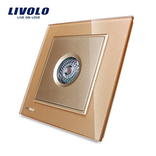 Livolo nueva llegada Golden cristal panel de control sonido ...