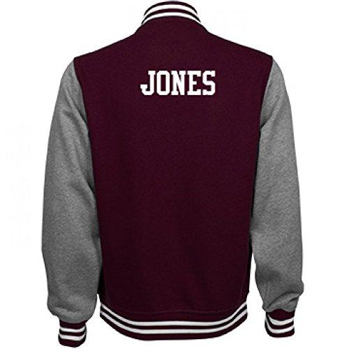 Jones Comfy Sports Fan Gear: Unisex Fleece Letterman - Varsity Jacket Soccer