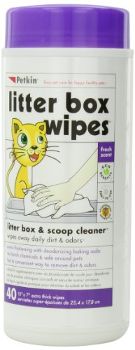 Price comparison product image Petkin Litter Box Wipes,  40-Count (Pack of 4)