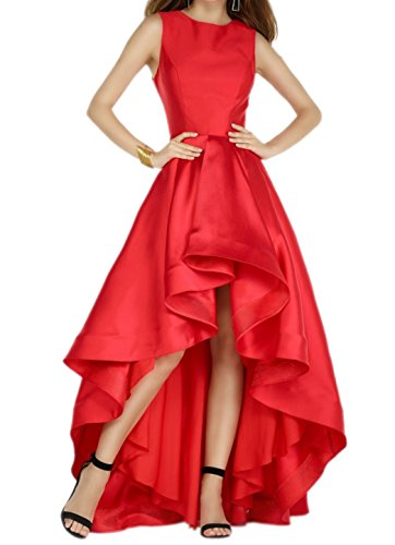 Dunkel Satin mia Brautjungfernkleider lo Braut Lang Partykleider Abschlussballkleider Abendkleider Hi Fuchsia Rot La Festlichkleider n1ExIq8n