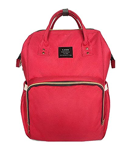 LAND Large Capacity Diaper Bag Backpack for Boys and Girls W