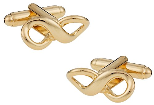 Designer Gold Plated Cufflinks - Cuff-Daddy Gold-Plated Infinity Forever Love Cufflinks with Presentation Box