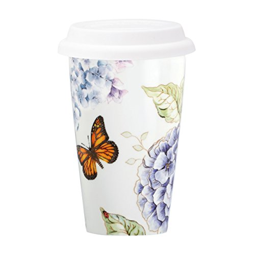 Lenox Butterfly Meadow Blue Thermal Mug White Import It All