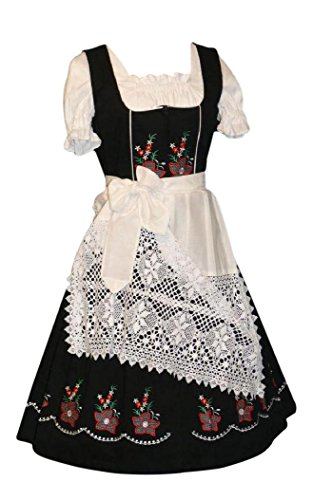 [3-Piece Long German Wear Party Oktoberfest Waitress Dress (14)] (German Dress)